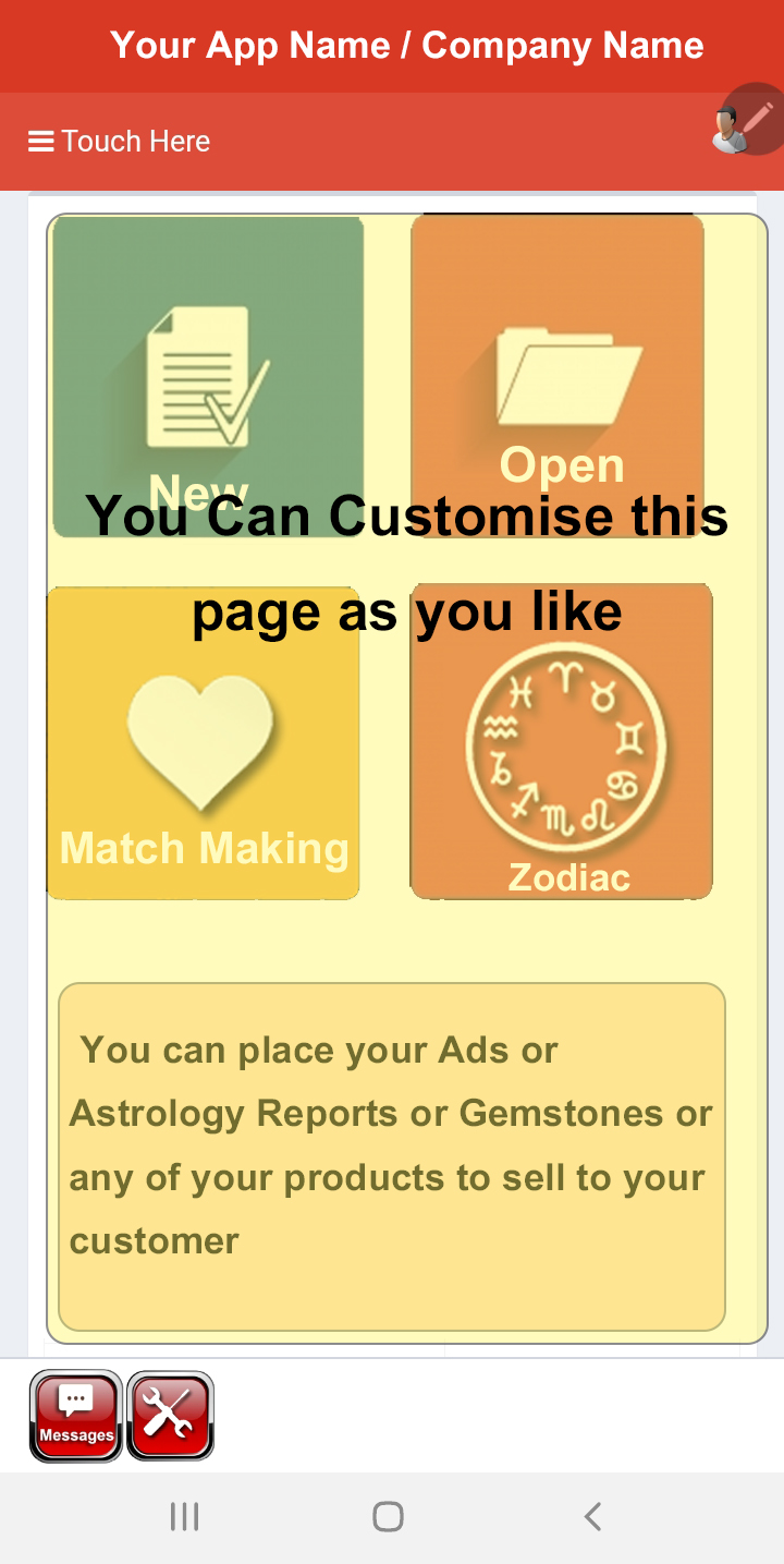 Horoscope Creation Page
